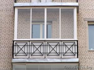 Балконные рамы раздвижные из алюминия и ПВХ от производителя - Изображение #1, Объявление #1549392